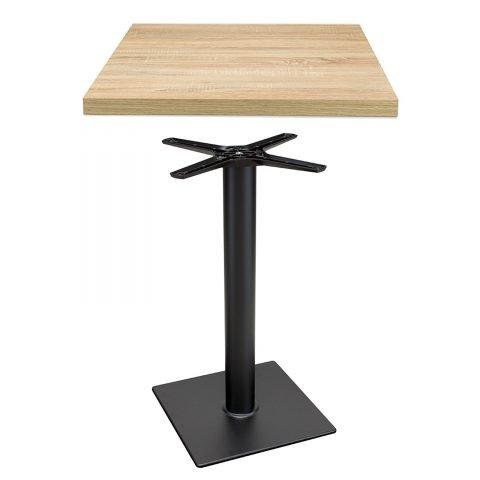 set tavolo composto da base modello 110 e piano in nobilitato Rovere