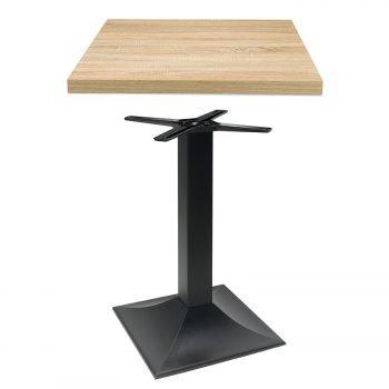 set tavolo composto da base modello 2003 e piano in nobilitato Rovere
