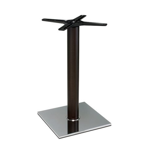 base tavolo in acciaio cromato mod 400/CR/L