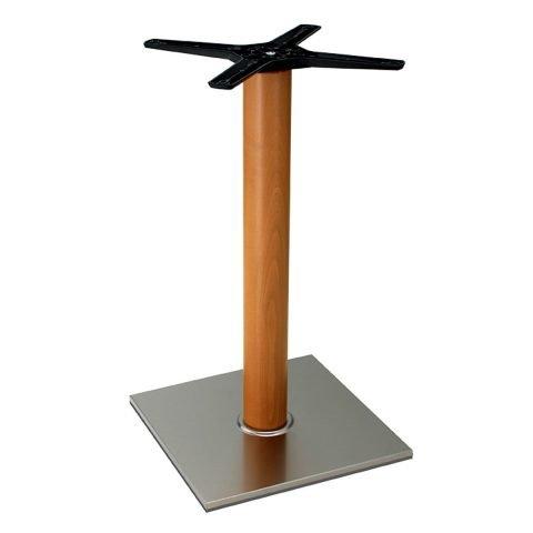 base tavolo in acciaio satinato mod 400/ST/L
