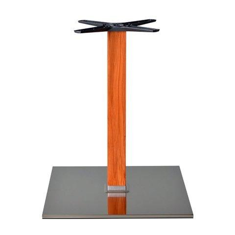 base tavolo in acciaio satinato mod 400BQ/ST/L