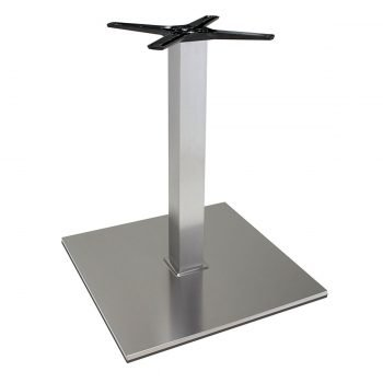 base tavolo in acciaio satinatomod 400BQ/ST