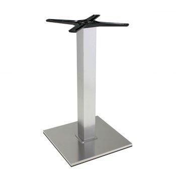 base tavolo in acciaio satinatomod 400Q/ST