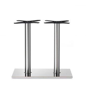 base tavolo in acciaio satinato mod 405/ST