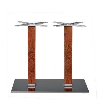 base tavolo in acciaio satinato mod 405Q/ST/L