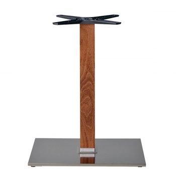 base tavolo in acciaio satinato mod 405QS/ST/L