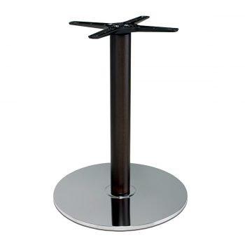 base tavolo in acciaio cromato mod 431/CR/L