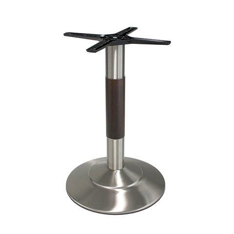 base tavolo in acciaio satinato mod 470/ST/L