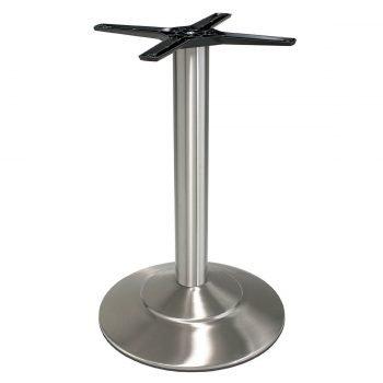 base tavolo in acciaio satinato mod 470/ST