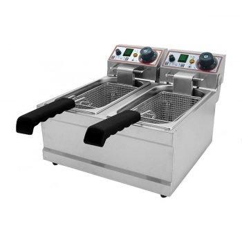 Friggitrice elettrica due vasche FB4+4LT