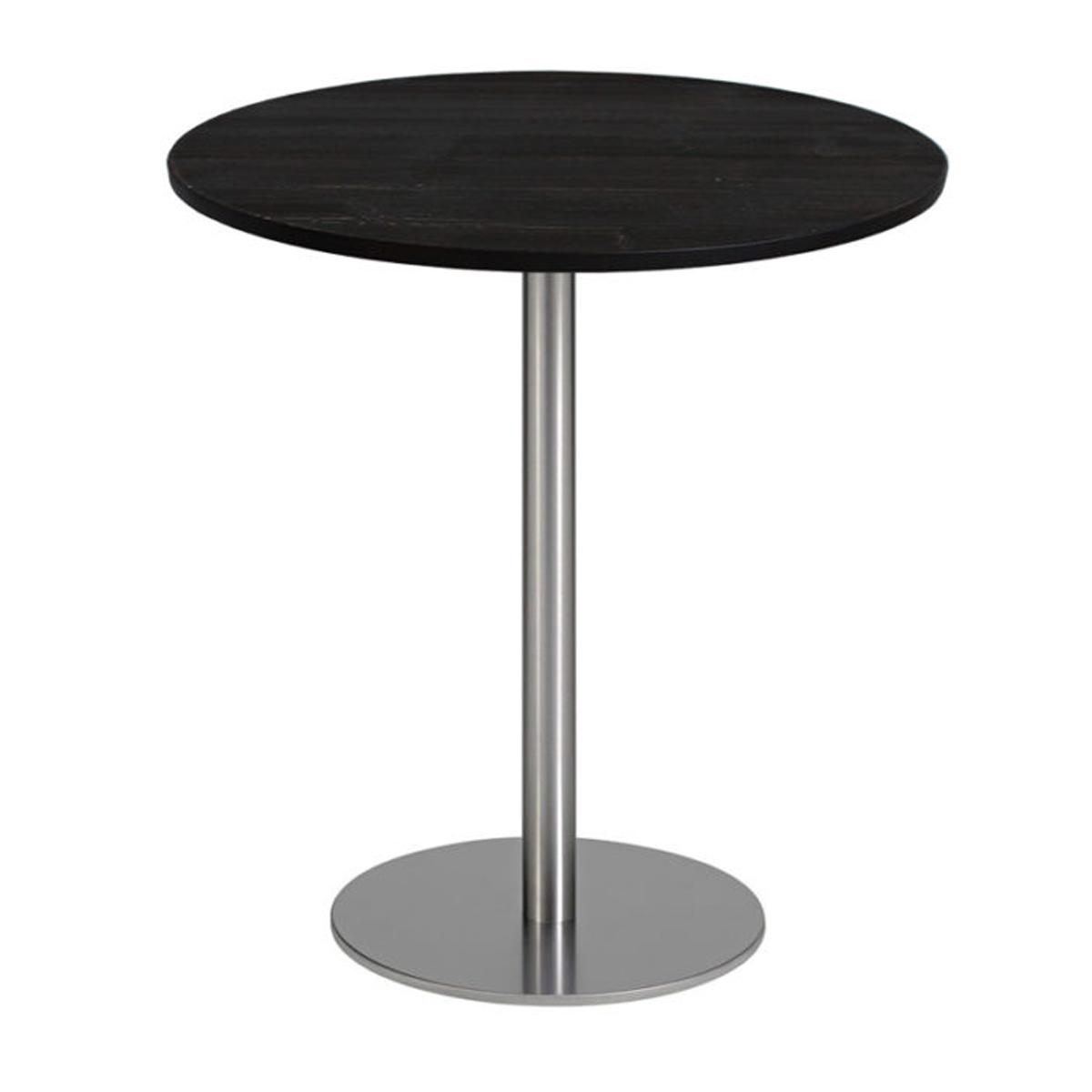 Piano tavolo tondo in laminato • Nero • Ø59cm • Spessore 1cm • EdO