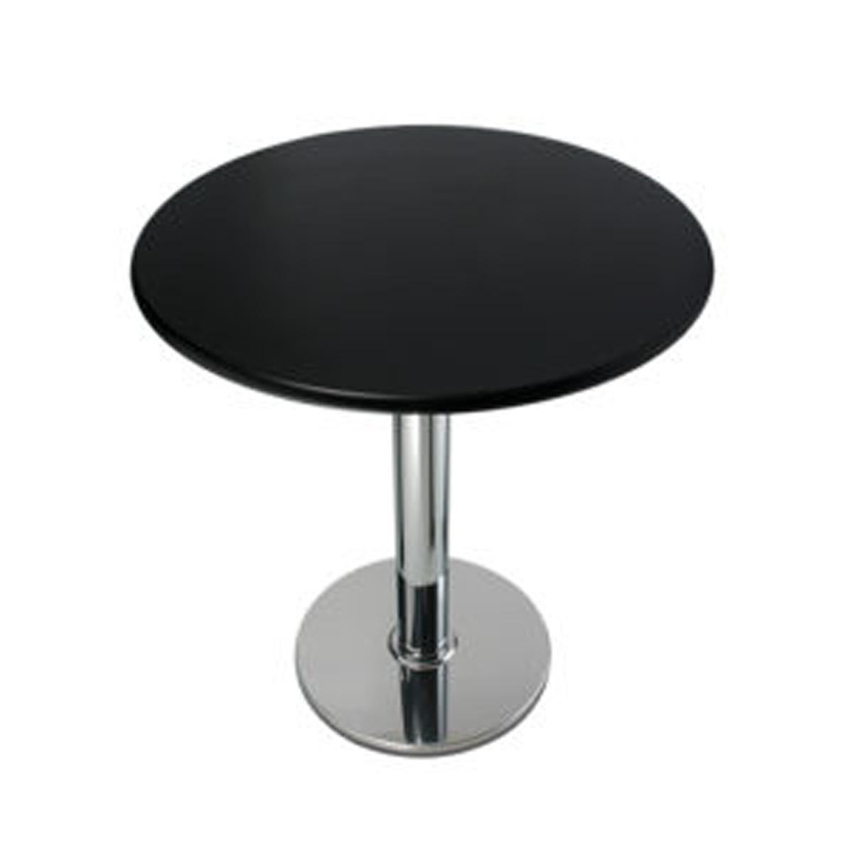 Piano tavolo tondo in MDF/PVC • Bianco • Ø70cm • Spessore 4,4cm • EdO