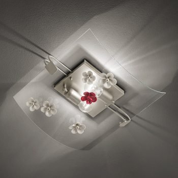 Plafoniera vetro ceramica recanati ferroluce C-1255