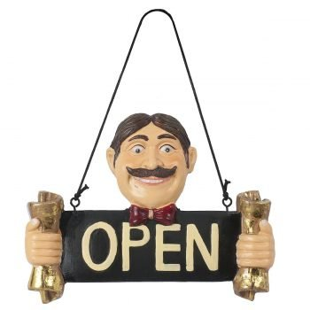 cartello porta aperto stilcasa LBU-OP