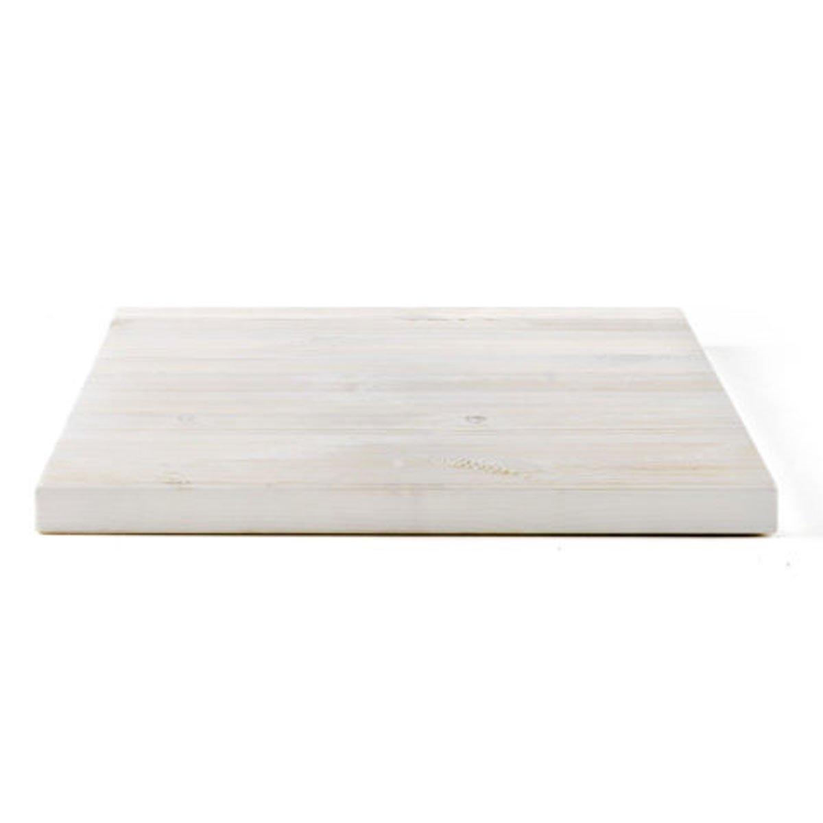 Piano tavolo quadrato in legno pino spazzolato • 70x70cm • Spessore ...