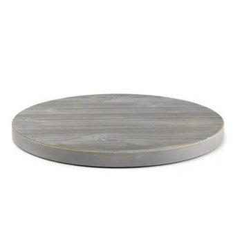 piano tavolo legno pino spazzolato tondo grigio roccia pfstile