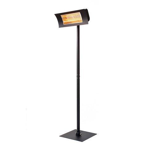 lampada infrarossi esterno oasi piantana nera radialight OASI-BASE-N