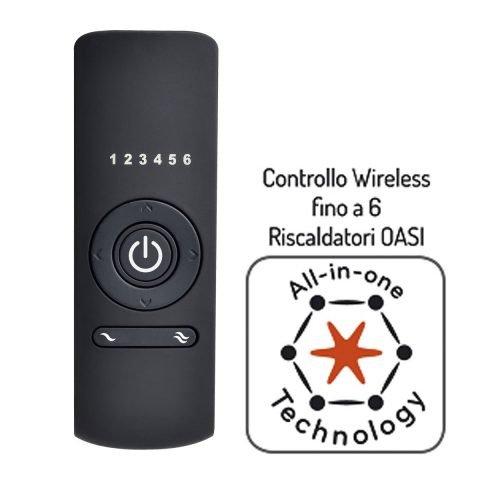 telecomando lampada infrarossi esterno oasi radialight OASI-REMOTE
