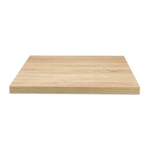Piano tavolo nobilitato quadrato rovere naturale pfstile NOB-R