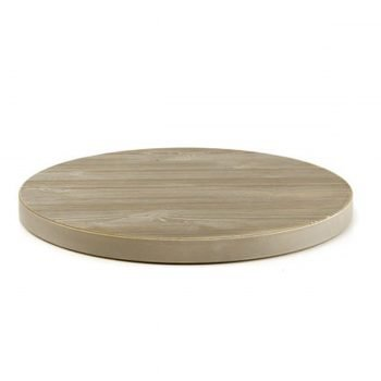 Piano tavolo tondo in legno pino spazzolato • Ø60cm • Spessore 5 cm ...